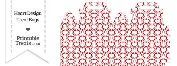 Red Heart Design Treat Bag