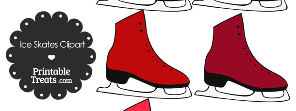 Red Ice Skates Clipart