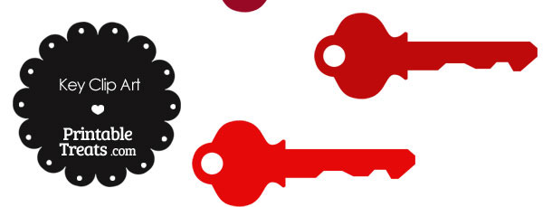 Red Key Clipart