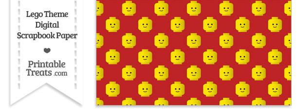 Red Lego Theme Digital Scrapbook Paper