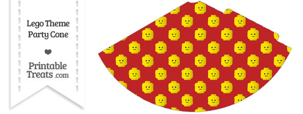 Red Lego Theme Party Cone