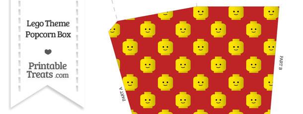 Red Lego Theme Popcorn Box