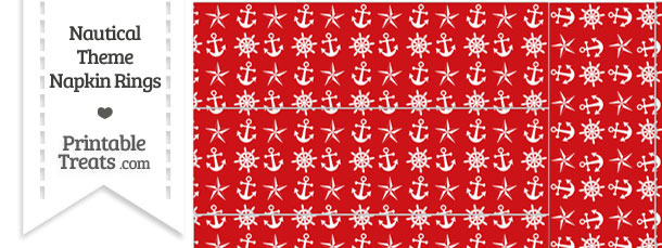Red Nautical Napkin Rings