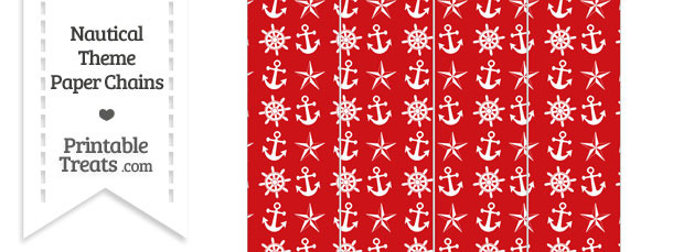 Red Nautical Paper Chains
