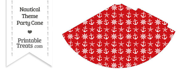 Red Nautical Party Cone