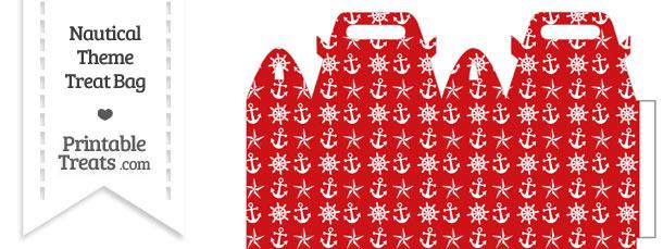 Red Nautical Treat Bag