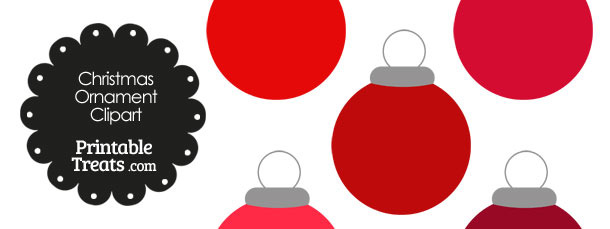 Red Round Ornament Clipart