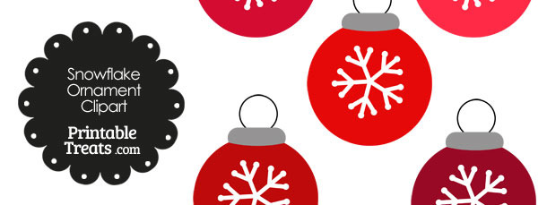 Red Snowflake Ornament Clipart