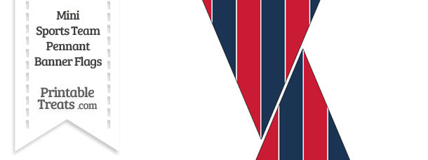 Red Sox Colors Mini Pennant Banner Flags