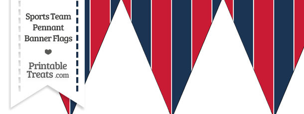 Red Sox Colors Pennant Banner