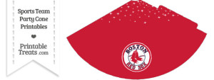 Red Sox Party Cone Printable
