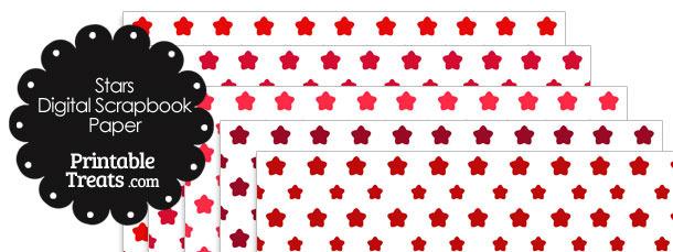 Red Star Digital Scrapbook Paper