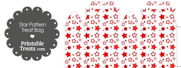 Red Star Pattern Treat Bag