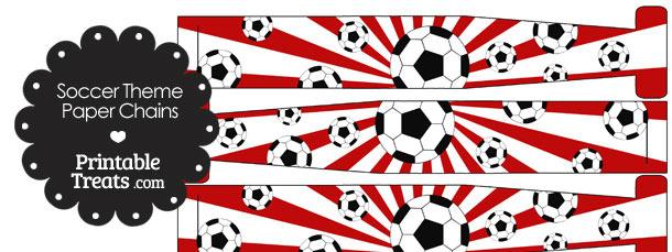 Red Sunburst Soccer Paper Chains