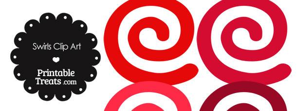Red Swirls Clipart