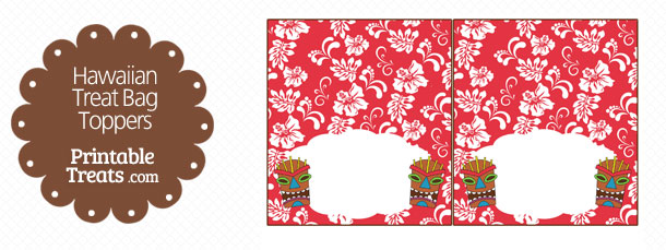free-red-tiki-mask-treat-bag-topper-printable