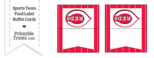 Reds Food Label Buffet Cards