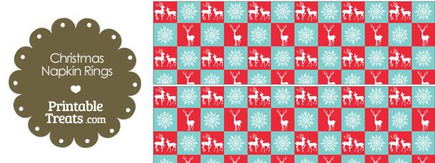 Reindeer and Snowflakes Napkin Rings