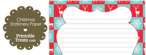 Reindeer and Snowflakes Stationery Paper