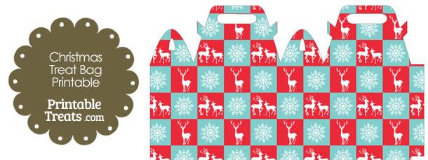Reindeer and Snowflakes Treat Bag