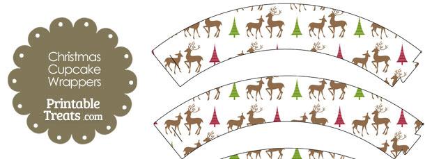 Reindeer Cupcake Wrappers