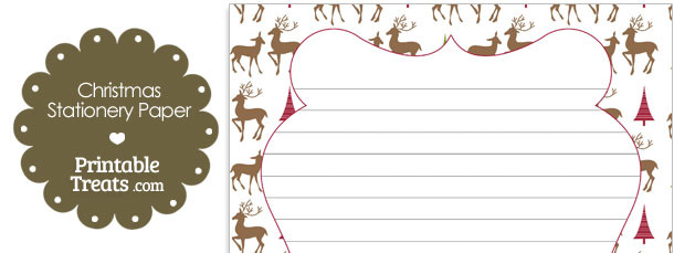 Reindeer Stationery Paper