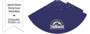 Rockies Party Cone Printable