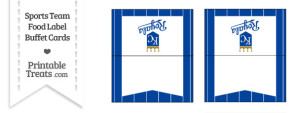 Royals Food Label Buffet Cards