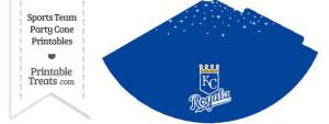 Royals Party Cone Printable