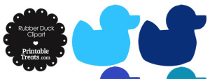 Rubber Duck Clipart in Shades of Blue