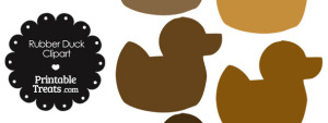 Rubber Duck Clipart in Shades of Brown