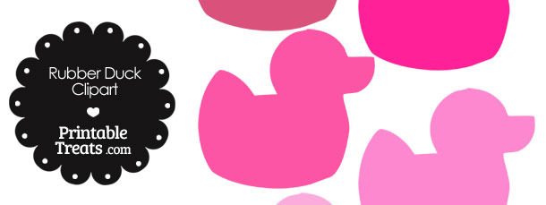 Rubber Duck Clipart in Shades of Pink