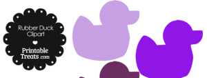Rubber Duck Clipart in Shades of Purple