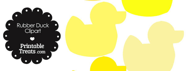 Rubber Duck Clipart in Shades of Yellow