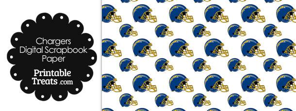 San Diego Chargers Football Helmet Digital Paper