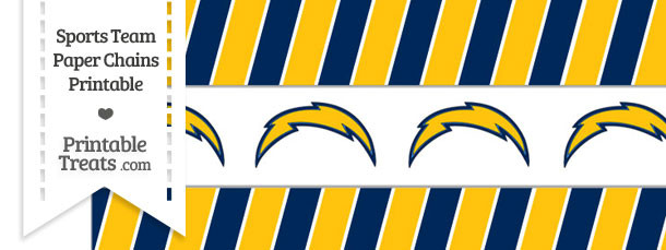 San Diego Chargers Paper Chains