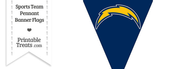 San Diego Chargers Pennant Banner Flag