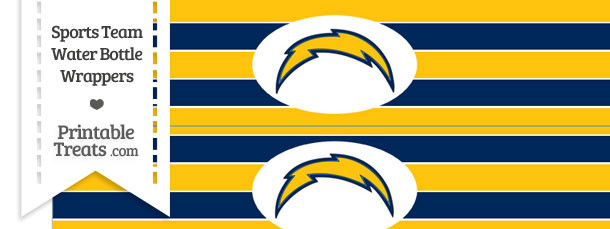 San Diego Chargers Water Bottle Wrappers