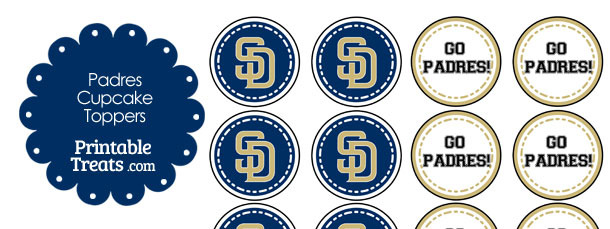 San Diego Padres Cupcake Toppers