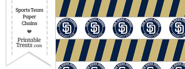 San Diego Padres Paper Chains