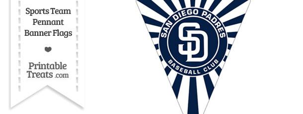 San Diego Padres Pennant Banner Flag Printable Treats Com