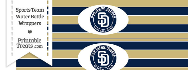 San Diego Padres Water Bottle Wrappers