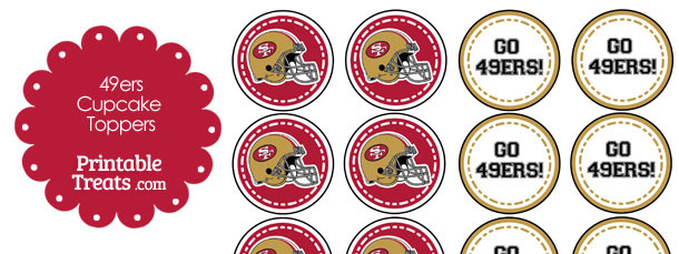 San Francisco 49ers Cupcake Toppers