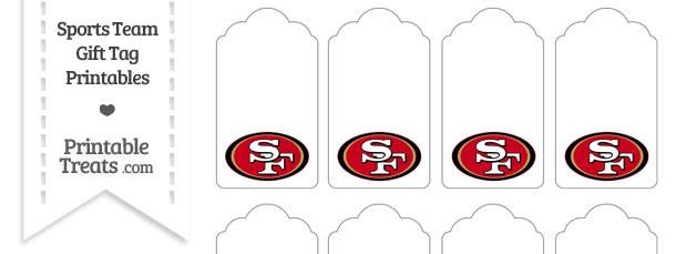 San Francisco 49ers Gift Tags