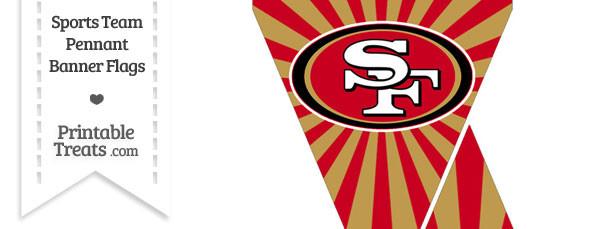 San Francisco 49ers Mini Pennant Banner Flags