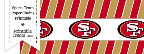 San Francisco 49ers Paper Chains