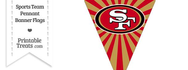 San Francisco 49ers Pennant Banner Flag