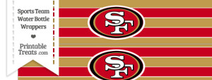 San Francisco 49ers Water Bottle Wrappers