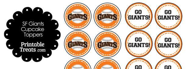 San Francisco Giants Cupcake Toppers