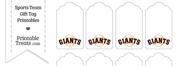 San Francisco Giants Gift Tags